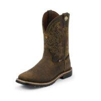 Men's Justin Fireman Brown Boot