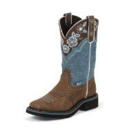 Women's Justin Starlina Blue Boot
