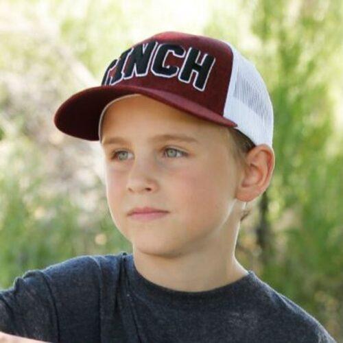 Boy's Heather Burgundy Trucker Cap