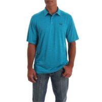 Men's Cinch Blue Polo Tee