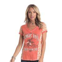Ladies Panhandle SS Papaya Shirt