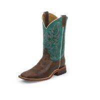 Men's Justin Austin Turquoise Boot