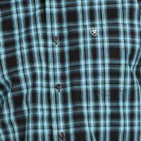 Men's Ariat Iberville Black Plaid Shirt 10033023
