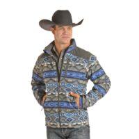 Men's Aztec Grey Softshell Jacket