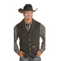 Men's Powder River Western Wool Vest