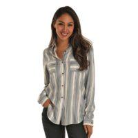 Ladies Stripe Boyfriend Fit Shirt