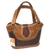 Montana West Tooling Handbag WRLG-8005BR