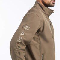 Men's Ariat Softshell Logo Morel Jacket 10032931