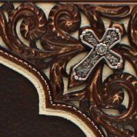 Nocona Rodeo Wallet Corner Overlay Cross N500003002