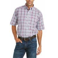 Men's Ariat Violet Plaid SS Shirt