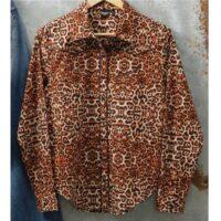Cruel Girl Boyfriend Fit Cheetah Print Shirt