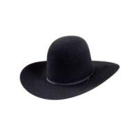 """Rodeo King Hat 7X Black 4 3/4"""" Brim"""