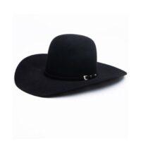 Rodeo King Hat 7X Black Open Crown