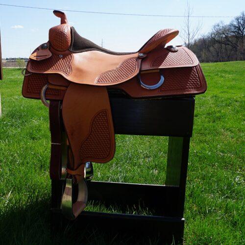 "Custom Reiner All Around 16 1/2"" Saddle"