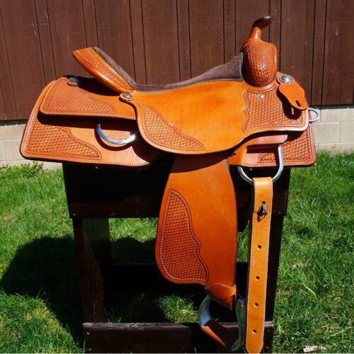 "Custom All Around Reining 16 1/2"" Saddle"
