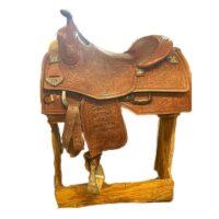 "15.5"" Tooled Bob's Custom Saddle"
