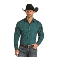 Men's Panhandle Long Sleeve Teal Shirt