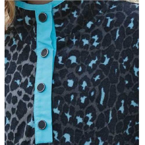 Cruel Girl Teal Cheetah Print Pullover