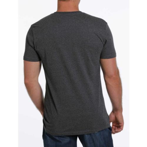 Cinch Men's Grey Logo Tee